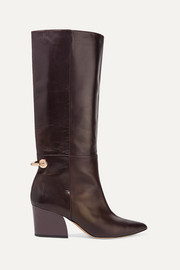 Rowan embellished leather knee boots
