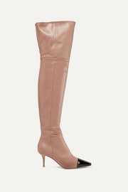 Gianvito Rossi 70 two-tone leather over-the-knee boots