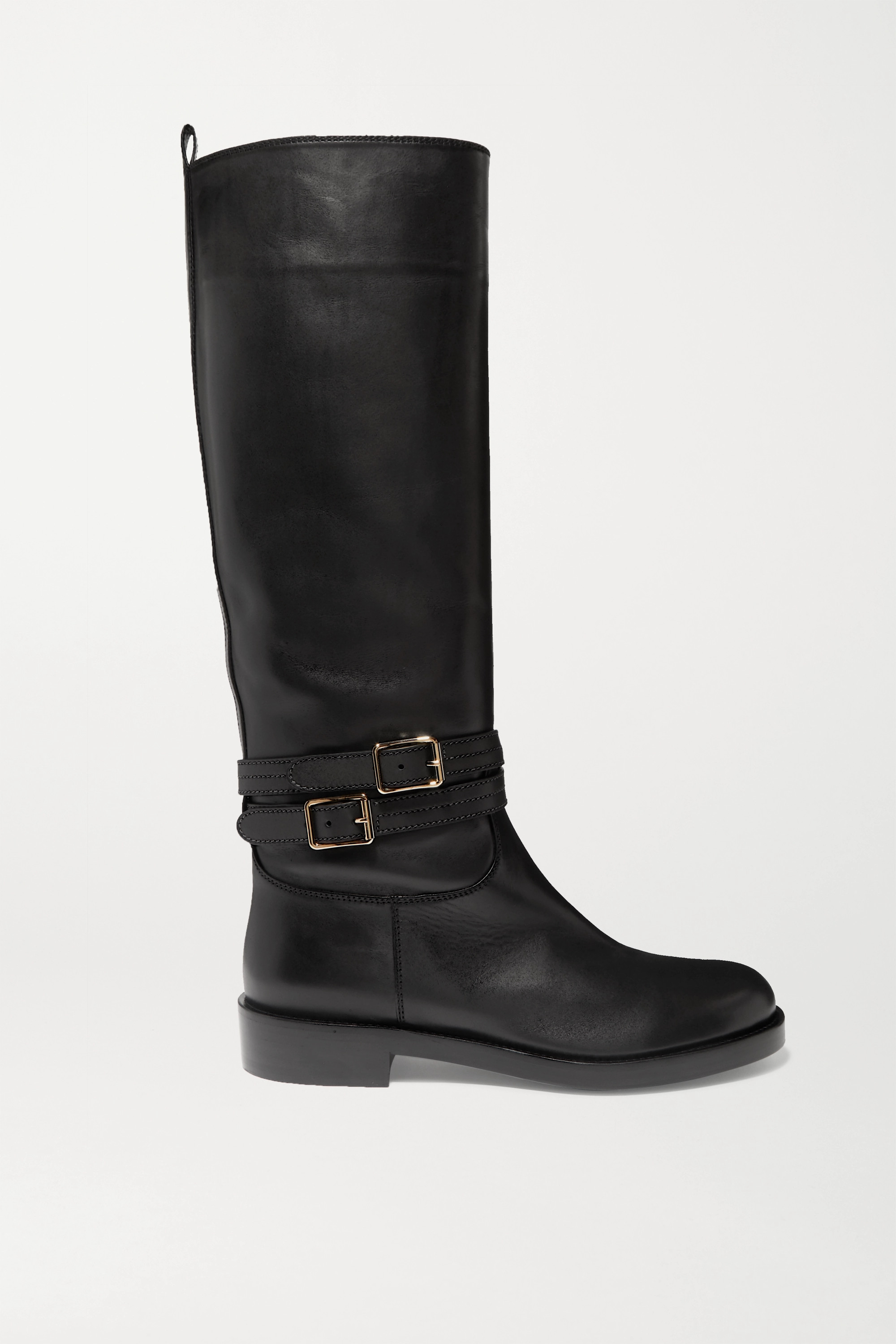 Gianvito Rossi Buckled leather knee boots