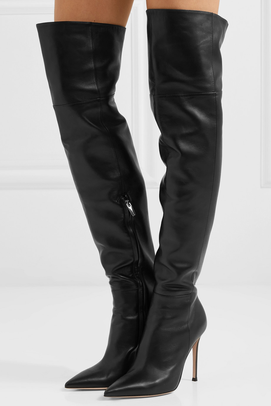 Gianvito Rossi 105 leather over-the-knee boots
