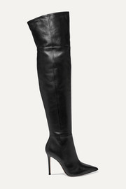 105 leather over-the-knee boots