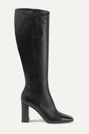 Gianvito Rossi 85 smooth and patent-leather knee boots
