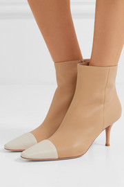70 two-tone leather ankle boots