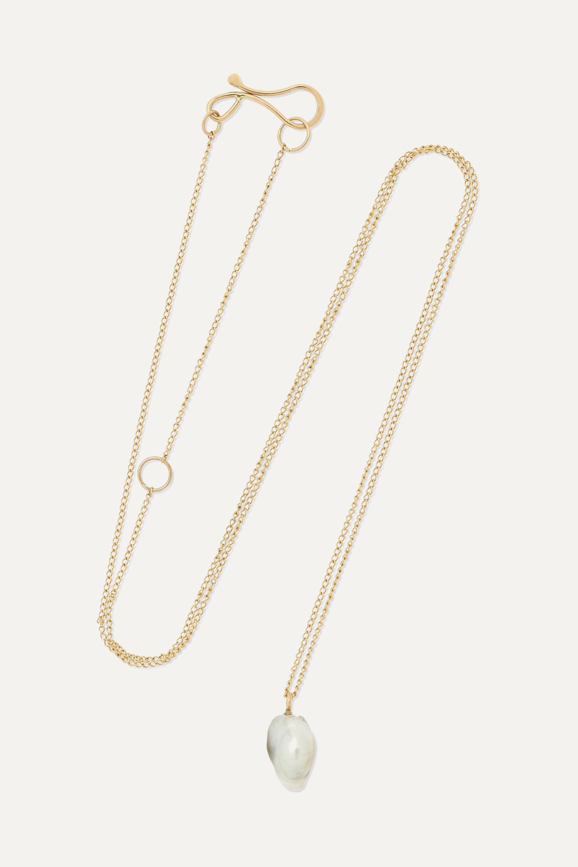 Melissa Joy Manning + NET SUSTAIN 14-karat gold pearl necklace