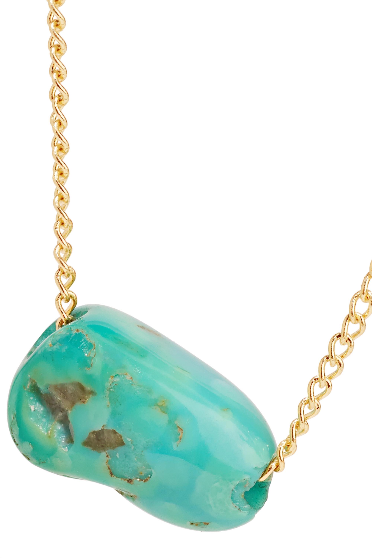 Melissa Joy Manning + NET SUSTAIN 14-karat gold turquoise necklace
