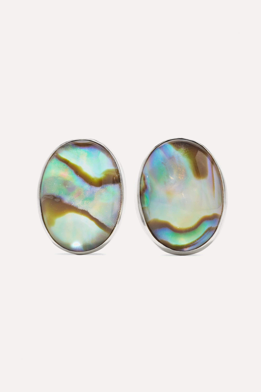 Melissa Joy Manning - + NET SUSTAIN sterling silver, shell and quartz earrings