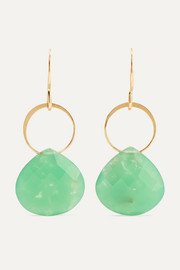 + NET SUSTAIN 14-karat gold chrysoprase earrings