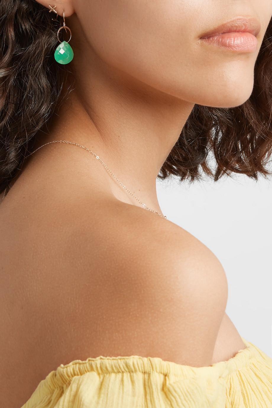 Melissa Joy Manning + NET SUSTAIN 14-karat gold chrysoprase earrings