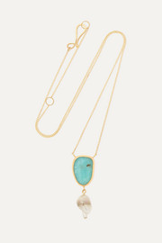 Melissa Joy Manning 14-karat gold, opal and pearl necklace
