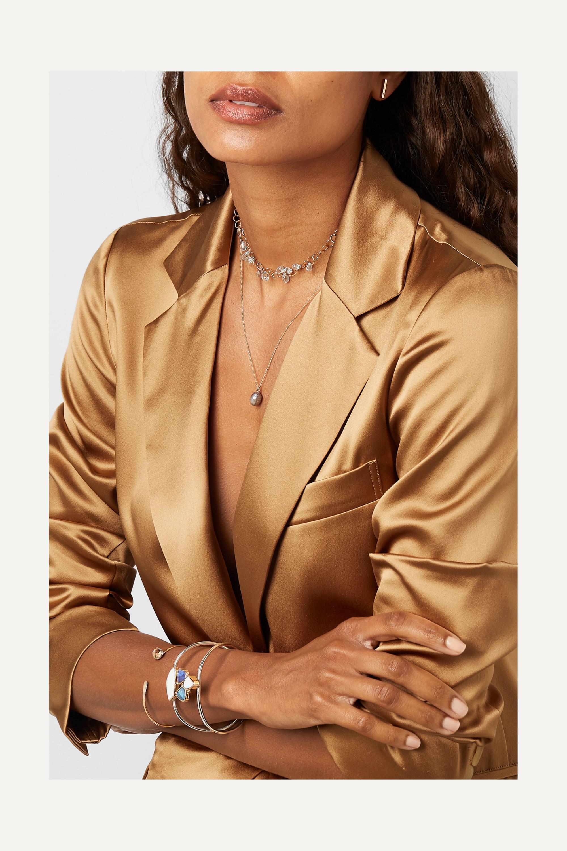 Melissa Joy Manning + NET SUSTAIN 14-karat gold diamond earrings