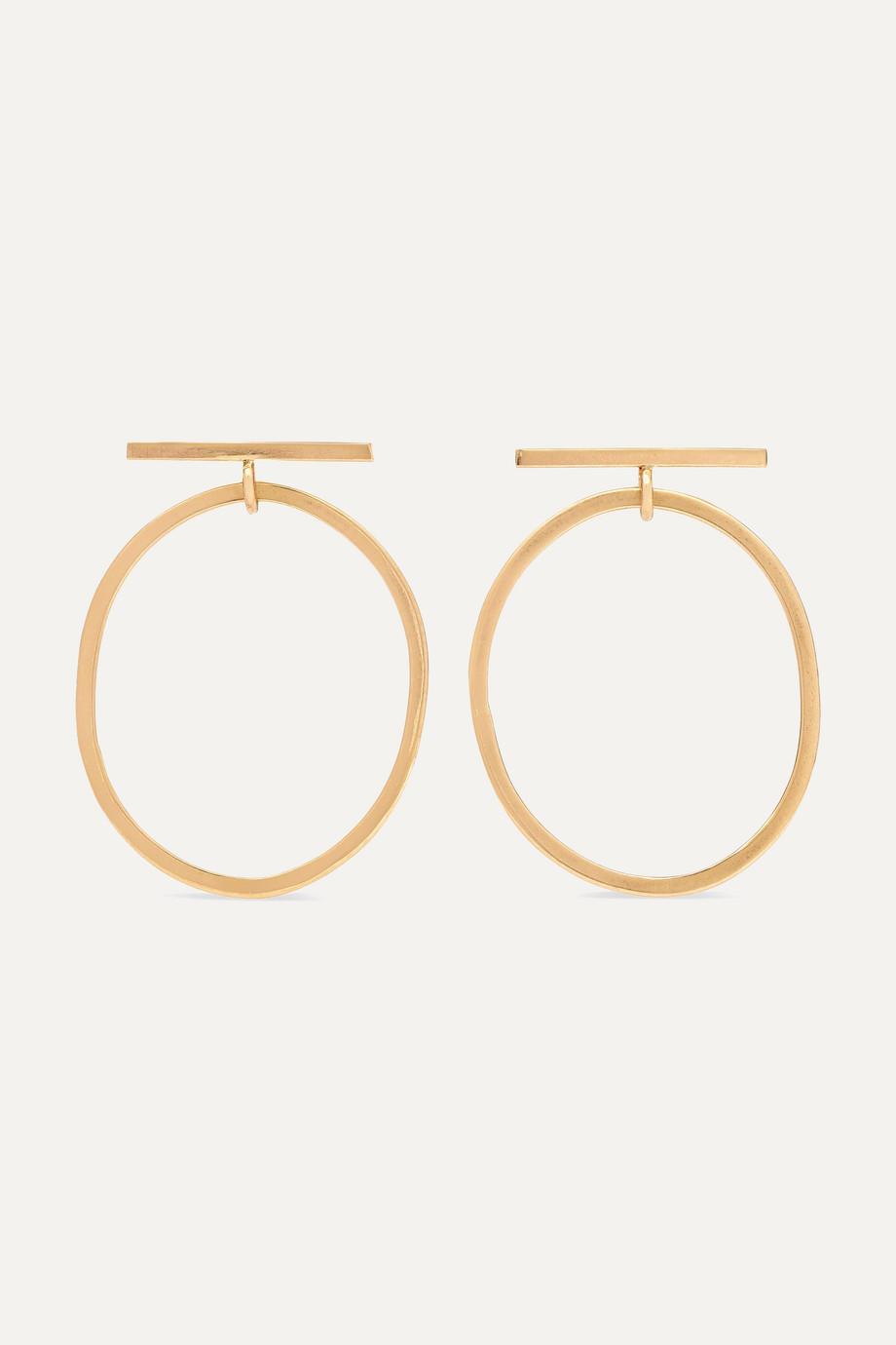 Melissa Joy Manning + NET SUSTAIN 14-karat gold hoop earrings