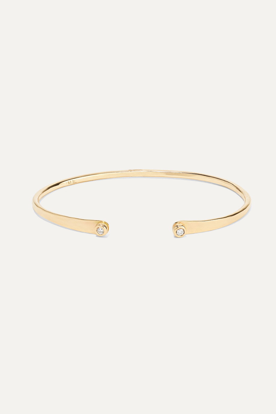 Melissa Joy Manning 14-karat gold diamond cuff