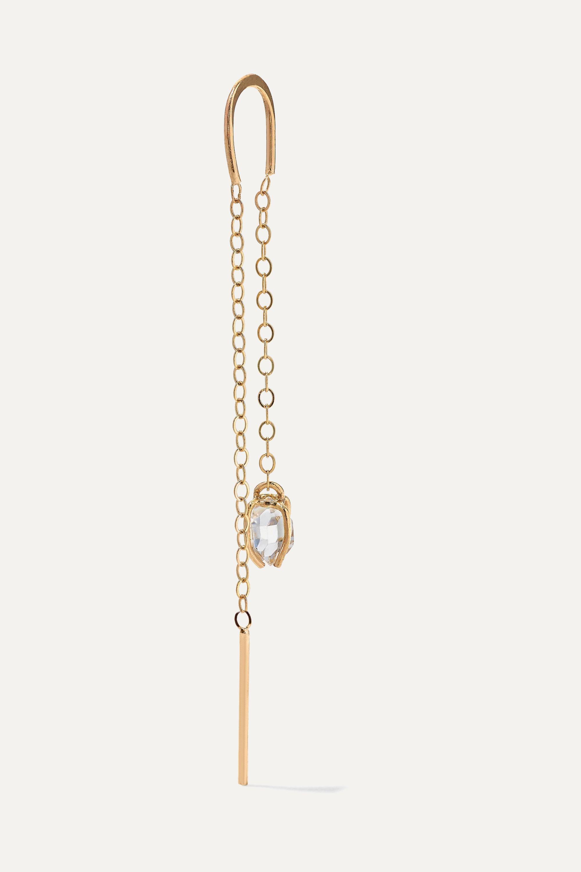 Melissa Joy Manning + NET SUSTAIN 14-karat gold Herkimer diamond earrings