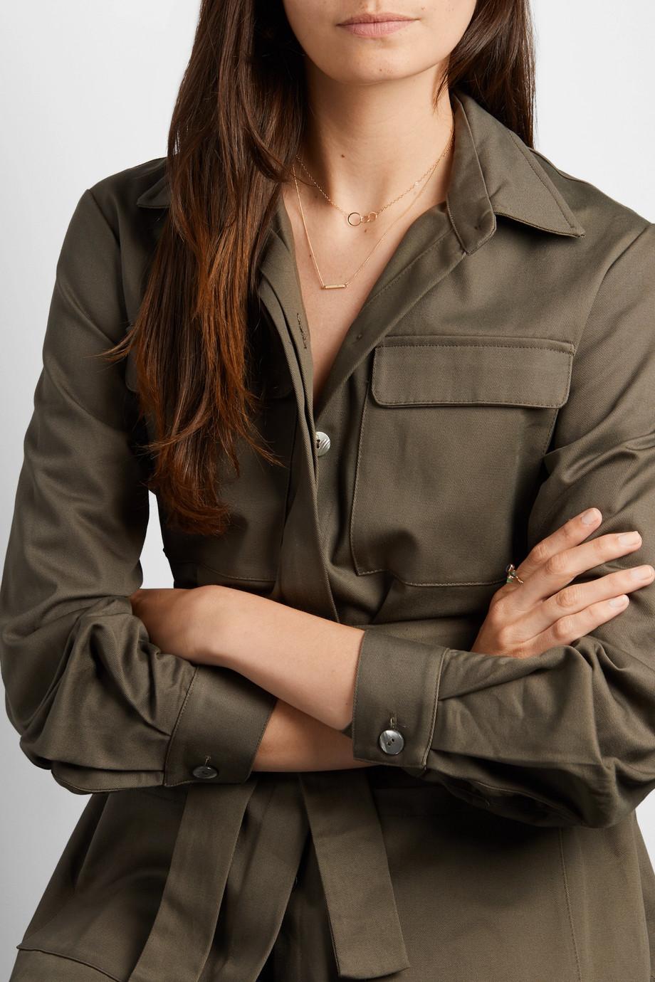 Melissa Joy Manning + NET SUSTAIN 14-karat gold diamond necklace