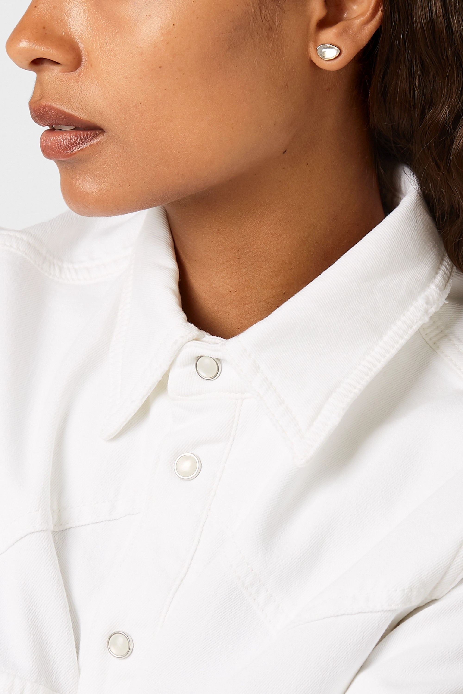 Melissa Joy Manning + NET SUSTAIN 14-karat gold, sterling silver and moonstone earrings