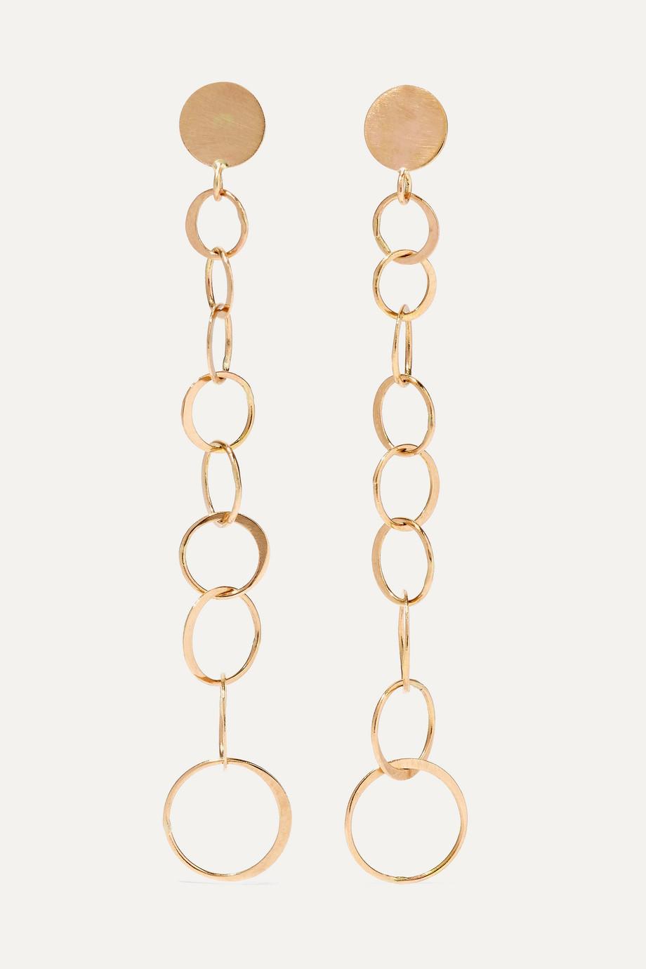 Melissa Joy Manning + NET SUSTAIN Gradient Circle 14-karat gold earrings
