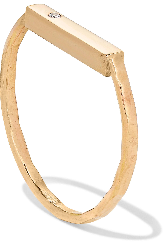 Melissa Joy Manning 【NET SUSTAIN】14K 黄金钻石戒指