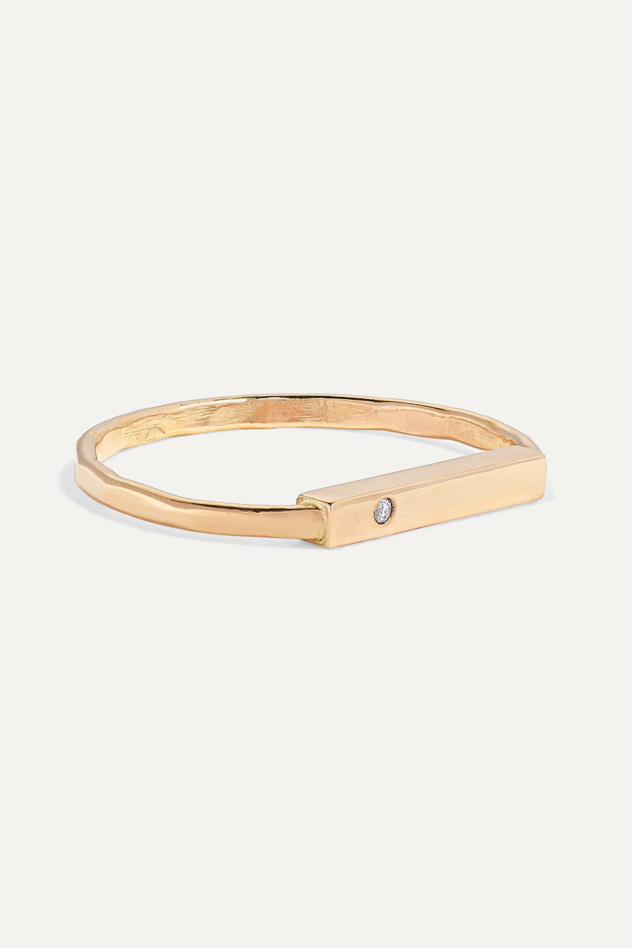 Melissa Joy Manning + NET SUSTAIN 14-karat gold diamond ring