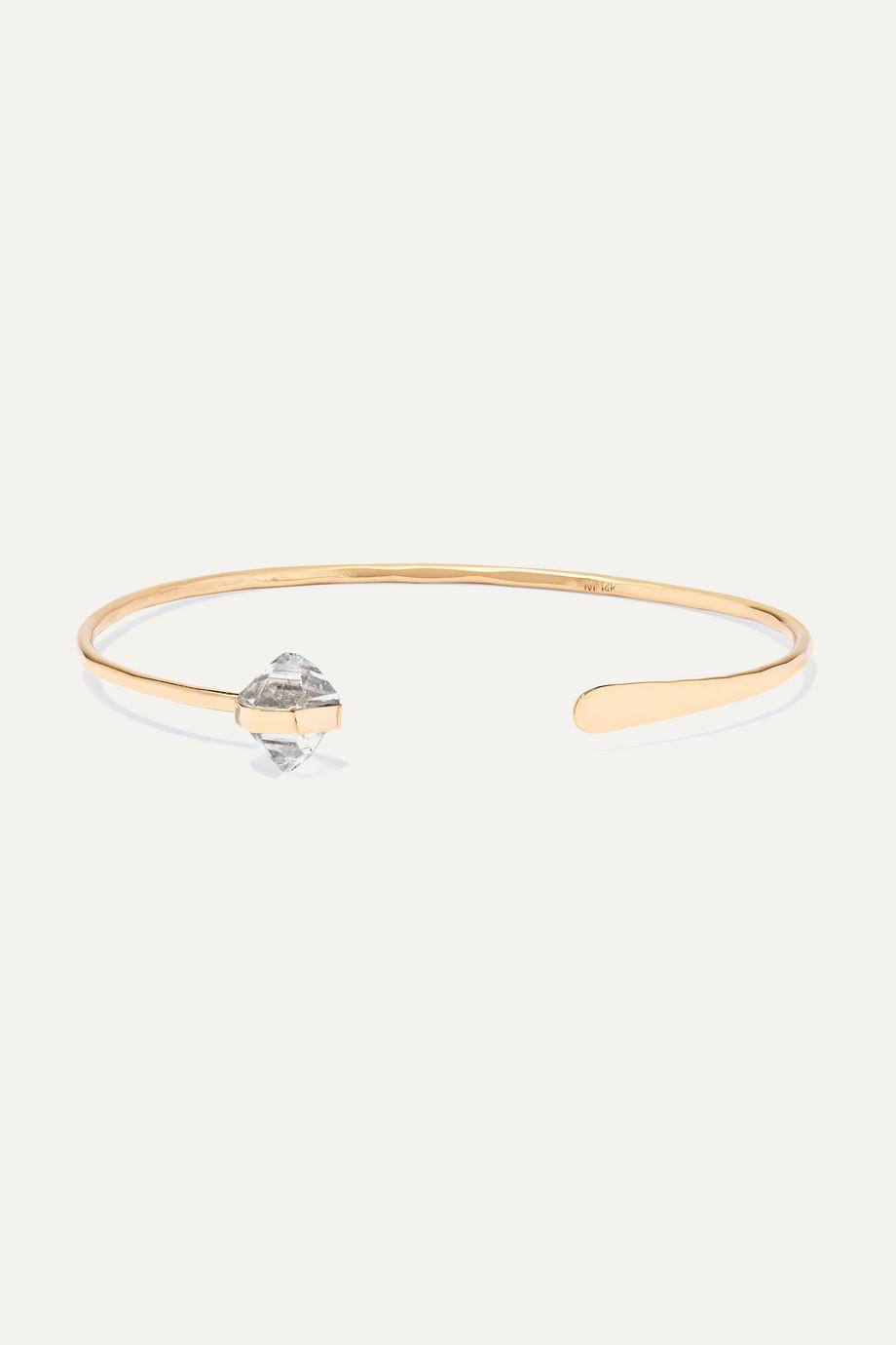 Melissa Joy Manning 14-karat gold Herkimer diamond cuff