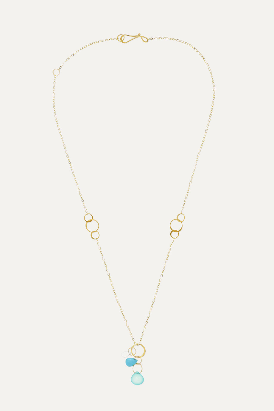 Melissa Joy Manning 14-karat gold multi-stone necklace