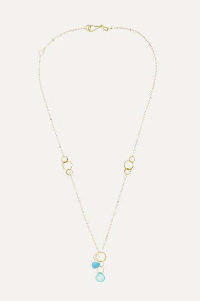 14 Karat Gold Multi Stone Necklace by Melissa Joy Manning