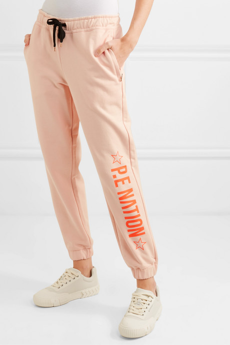 Exposure printed French cotton-terry track pants