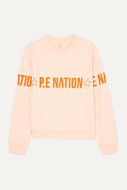 Exposure printed French cotton-terry sweatshirt