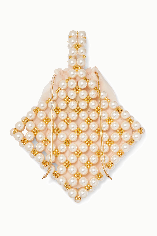 Vanina Reveries beaded faux pearl tote