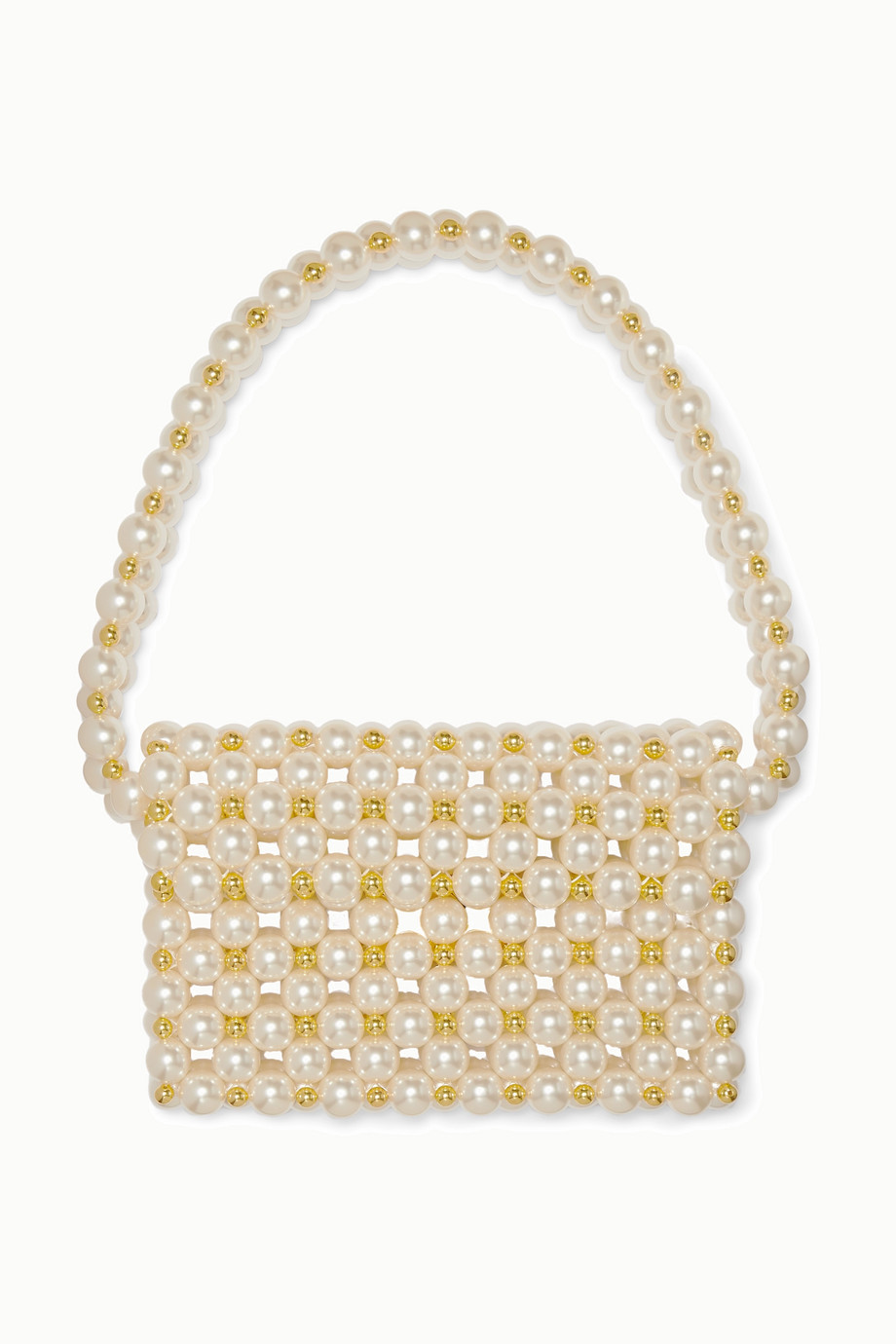 Vanina Reveries faux pearl and gold-tone beaded shoulder bag