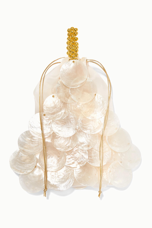 Vanina Casse Noisette beaded shell tote