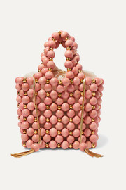 Bolero beaded wooden tote
