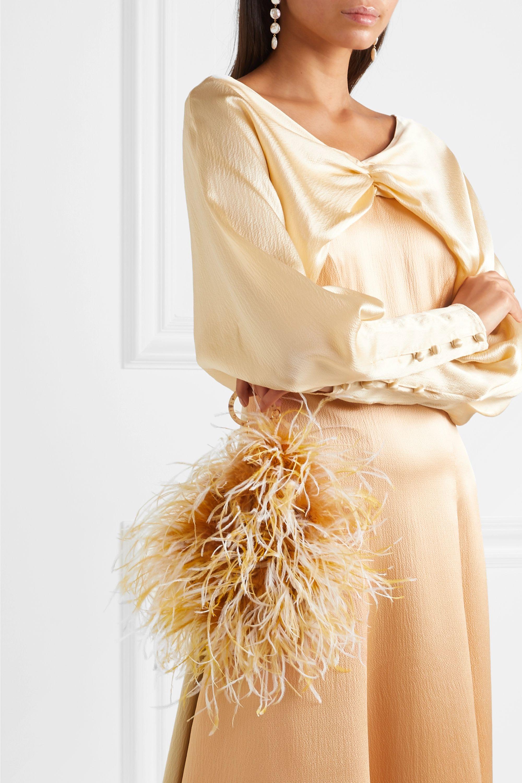 Vanina L'oiseau Rebelle feather-embellished acrylic tote