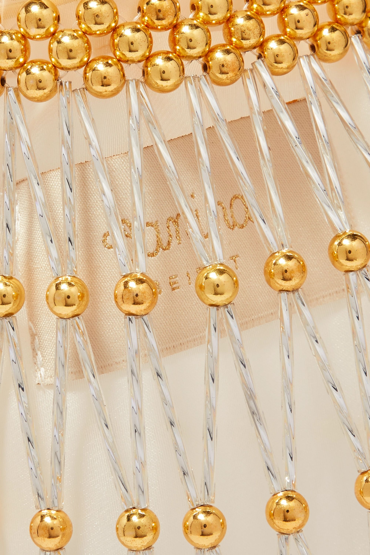 Vanina Nocturne gold-tone beaded tote