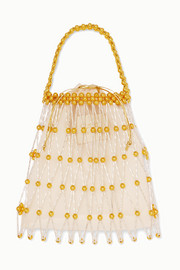 Vanina Nocturne gold-tone beaded tote