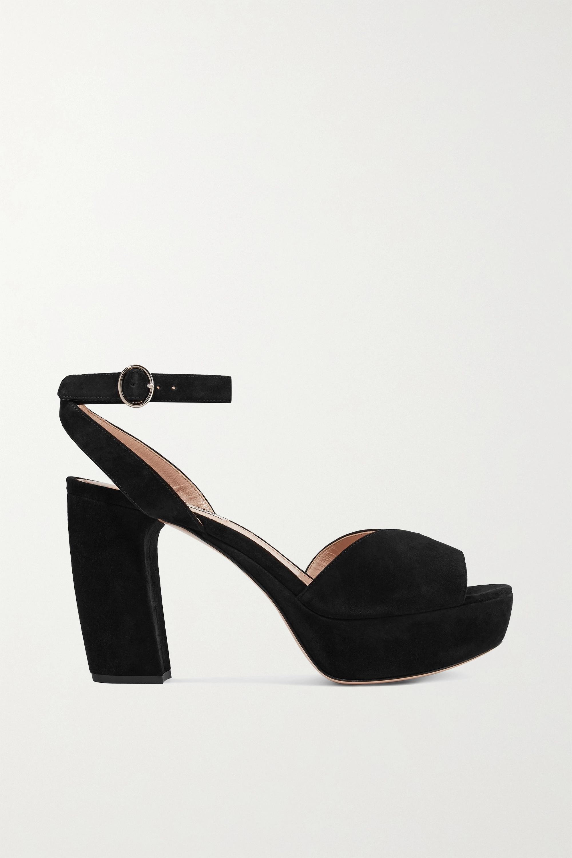 Black Suede platform sandals | Miu Miu