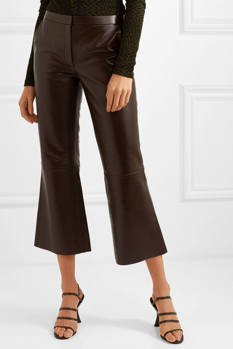 Vercano cropped leather wide-leg pants