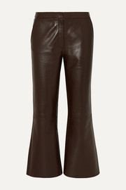 By Malene Birger Vercano cropped leather wide-leg pants