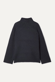 By Malene Birger Peach oversized ribbed wool-blend turtleneck sweater