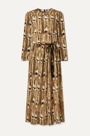 By Malene Birger Alhena printed crepe maxi dress