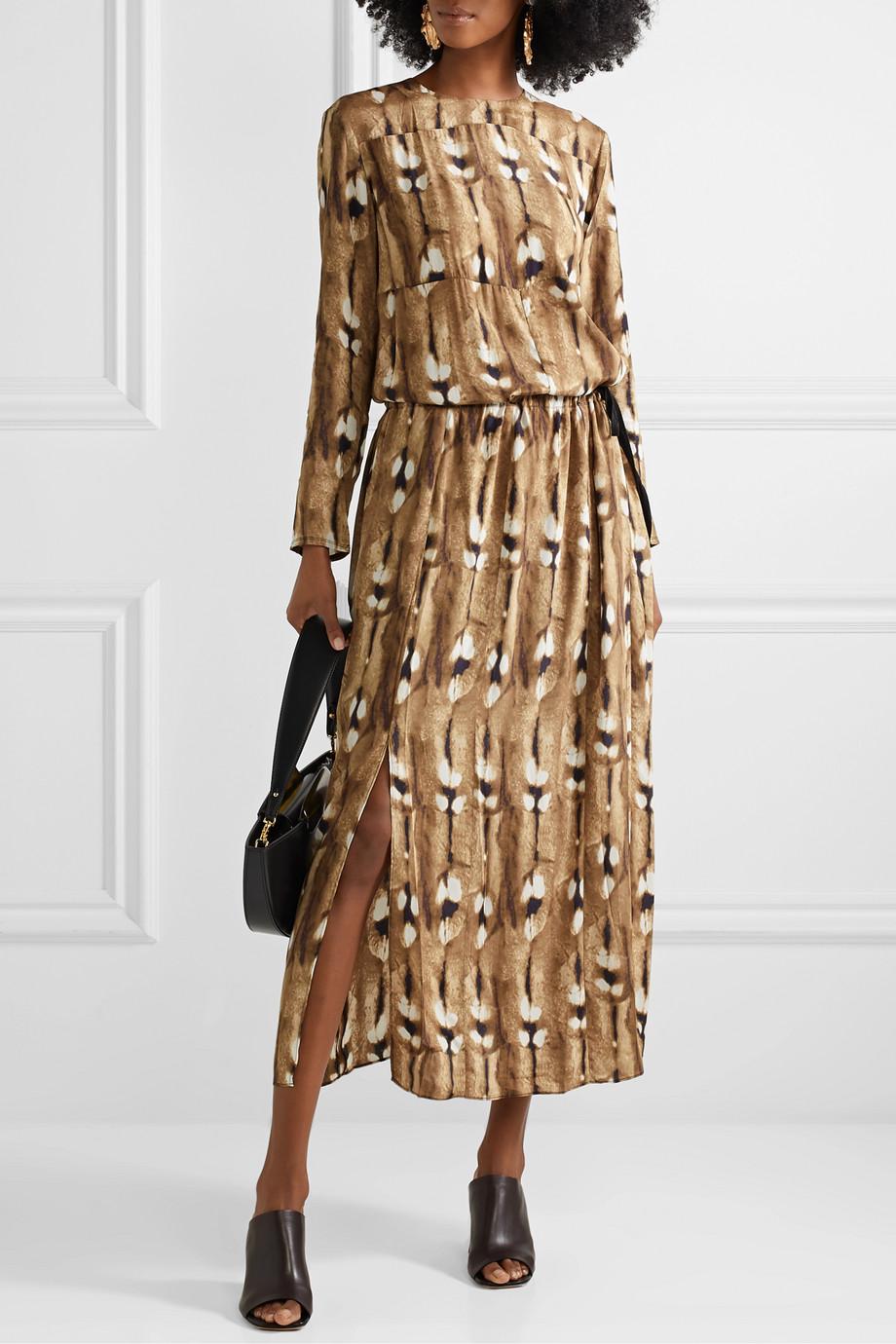 By Malene Birger Alhena printed crepe maxi dress