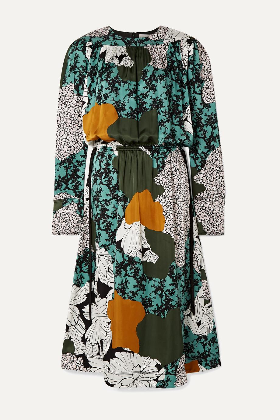 By Malene Birger Niella floral-print satin midi dress