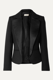 By Malene Birger Jocelynn satin trimmed twill blazer