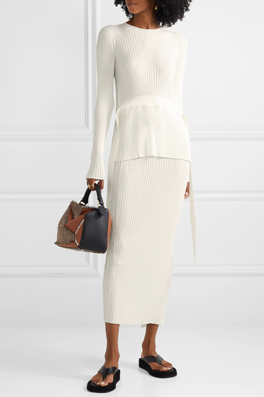 By Malene Birger Geneva tie-detailed open-back ribbed-knit sweater