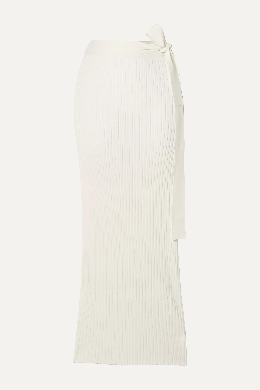 By Malene Birger Esther ribbed-knit wrap midi skirt
