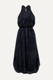 By Malene Birger Modena cutout fringed devoré-velvet halterneck dress