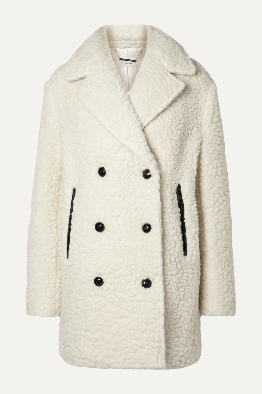 By Malene Birger Double-breasted textured wool-blend coat