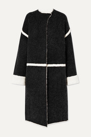 By Malene Birger Iseline reversible oversized striped knitted coat