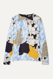 By Malene Birger Napoli printed satin blouse