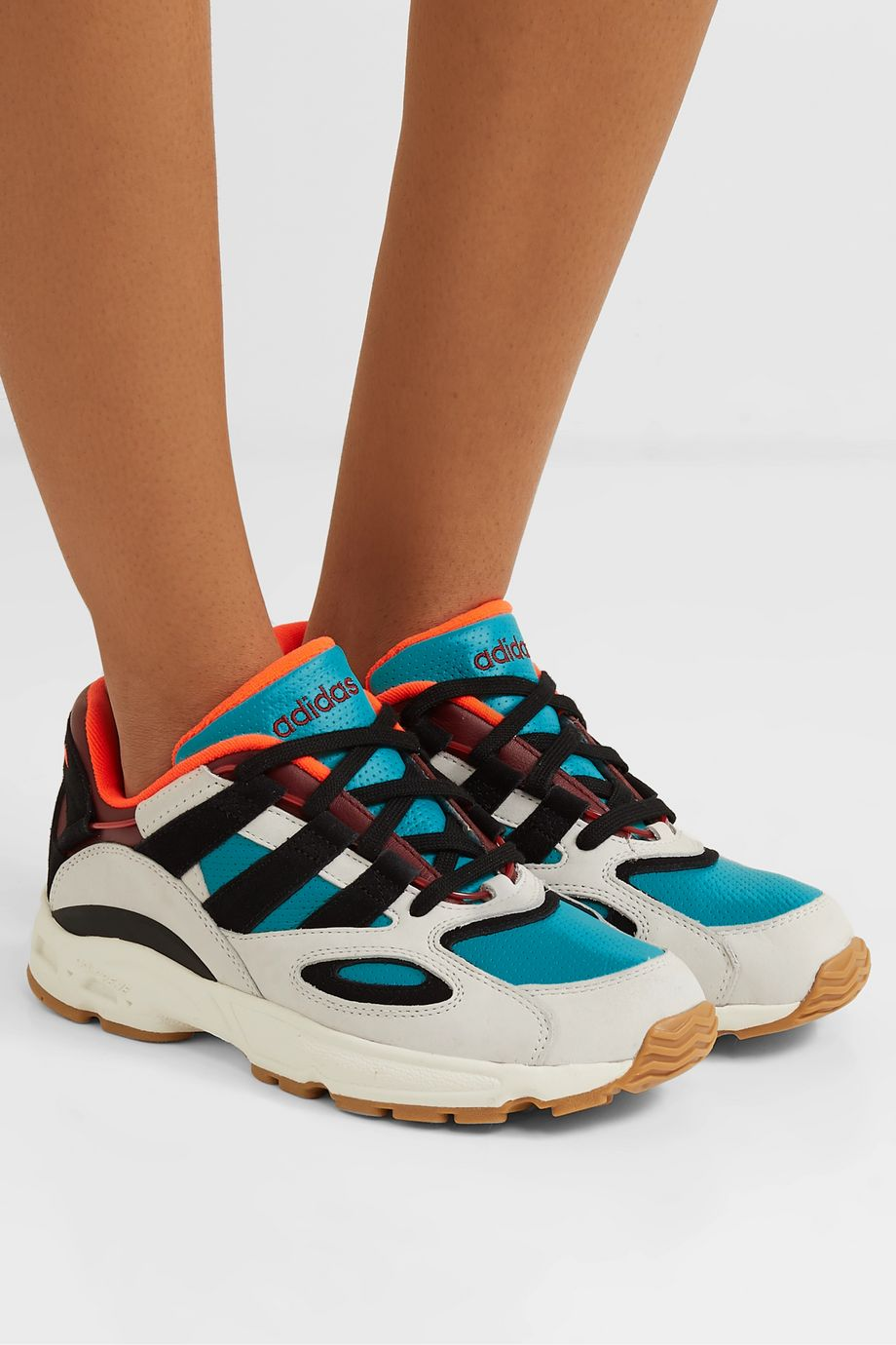 adidas Originals LXCON 94 leather and suede sneakers