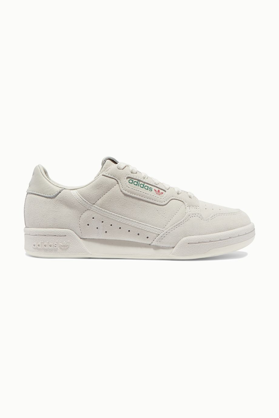 adidas Originals Continental 80 leather-trimmed suede sneakers
